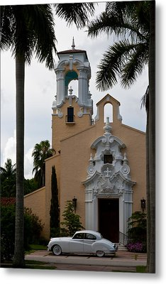 Metal Print featuring the photograph Congregational Church Front Door by Ed Gleichman