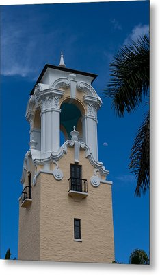 Metal Print featuring the photograph Congregational Church Tower by Ed Gleichman