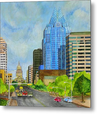 Congress Avenue Austin Texas Metal Print