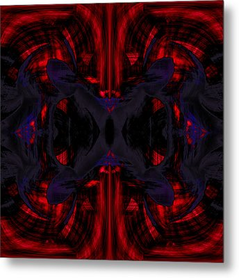 Conjoint - Crimson And Royal. Metal Print by Christopher Gaston