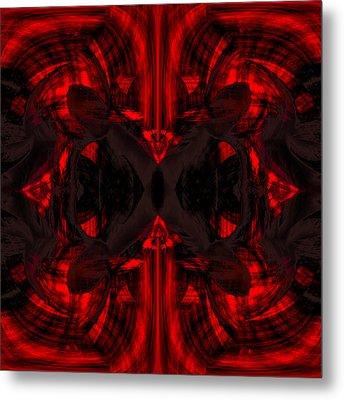 Conjoint - Crimson Metal Print by Christopher Gaston
