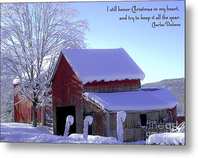 Connecticut Christmas Connecticut Usa Metal Print by Sabine Jacobs
