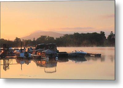 Connecticut River Oxbow Morning Fog Mount Holyoke Metal Print by John Burk