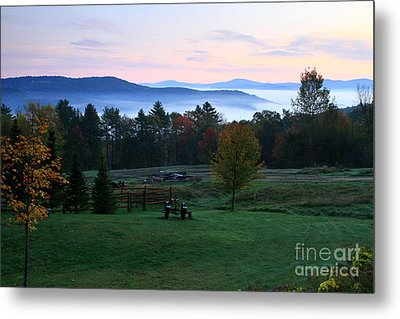 Connecticut River Valley Sunrise Metal Print by Butch Lombardi
