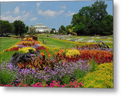 Metal Print featuring the photograph Conservatory Gardens by Lynn Bauer