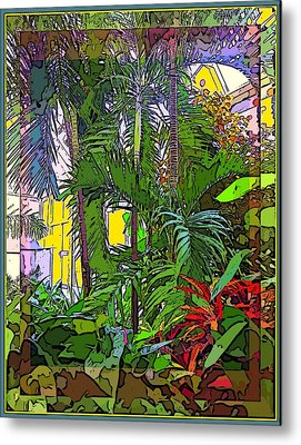 Conservatory Sunlight Metal Print by Mindy Newman