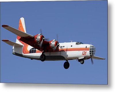 Consolidated P4y-2 Privateer N2871g Tanker 121 Phoenix-mesa Gateway Airport March 9 2012 Metal Print by Brian Lockett