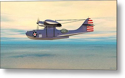 Consolidated Pby Catalina Metal Print by Walter Colvin
