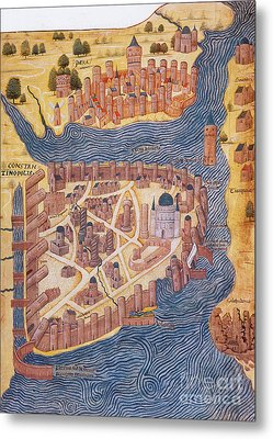 Constantinople, 1485 Metal Print by Photo Researchers