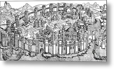 Constantinople, 1493 Metal Print by Photo Researchers