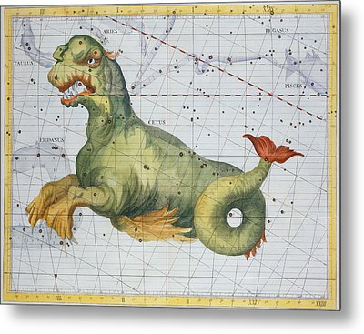 Constellation Of Cetus The Whale Metal Print by James Thornhill