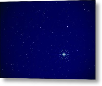Constellation Of Leo With Jupiter Metal Print by Pekka Parviainen