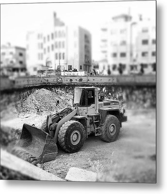 #constraction #blackandwhite #bnw #bw Metal Print
