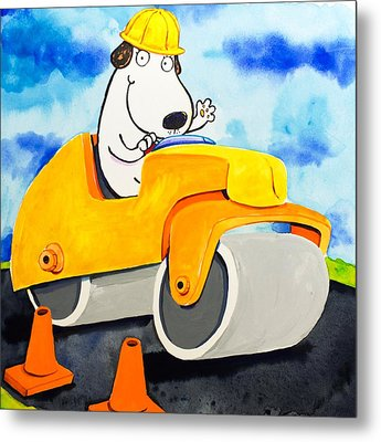 Construction Dogs 3 Metal Print by Scott Nelson