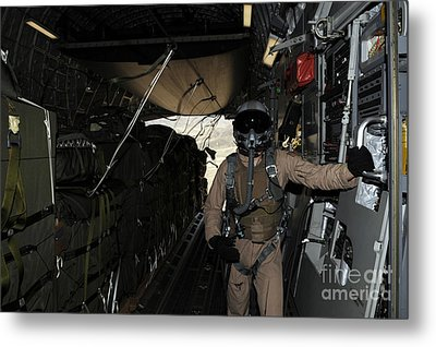 Container Delivery System Bundles Exit Metal Print by Stocktrek Images