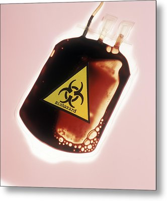 Contaminated Blood Metal Print by Cristina Pedrazzini
