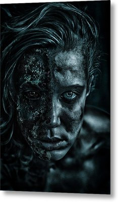 Contamination Metal Print by Eugene Volkov