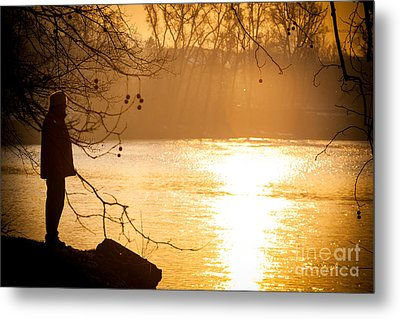 Metal Print featuring the photograph Contemplating by Sonny Marcyan
