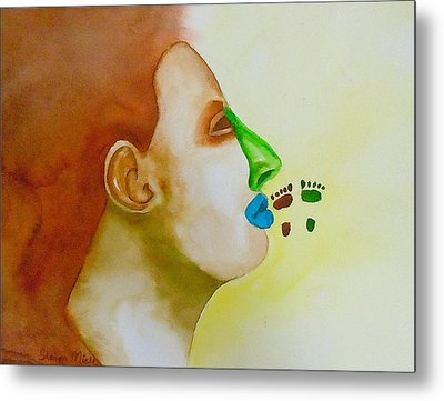 Metal Print featuring the painting Contemporary Genetics by Sharon Mick