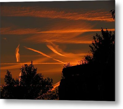 Metal Print featuring the photograph Contrails At Play by Nikki McInnes