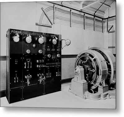 Control Panel And Dynamo Generator Metal Print by Everett