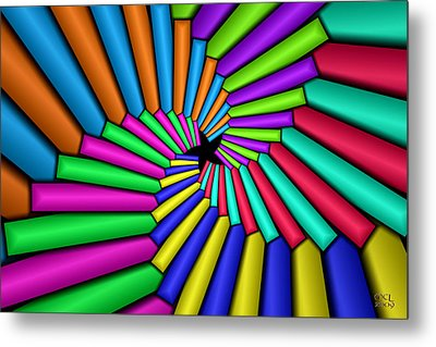 Metal Print featuring the digital art Convergence by Manny Lorenzo