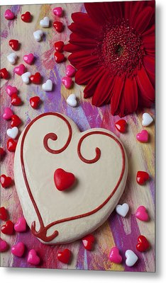 Cookie And Candy Hearts Metal Print by Garry Gay