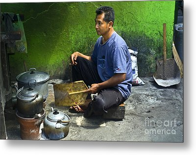 Cooking Metal Print by Charuhas Images