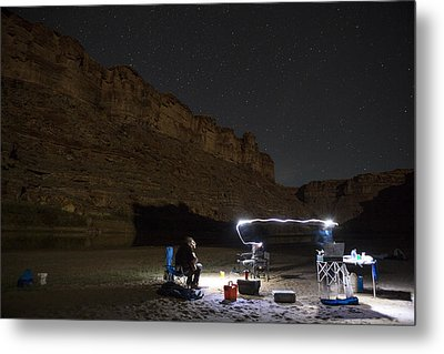 Cooking Under The Stars Metal Print