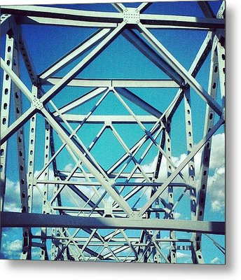 Cool #bridge #ohio Metal Print