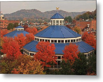Coolidge Park Carousel Metal Print by Tom and Pat Cory