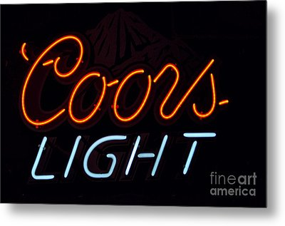 Coors Light Metal Print by Juls Adams