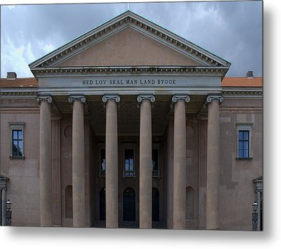 Metal Print featuring the photograph Copenhagen Courthouse by Steven Richman