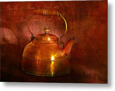 Metal Print featuring the photograph Copper Kettle by James Bethanis