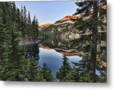 Copper Lake Metal Print
