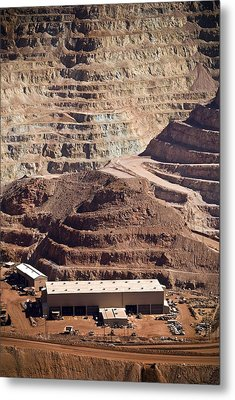 Copper Mine Buildings, Arizona, Usa Metal Print by Arno Massee