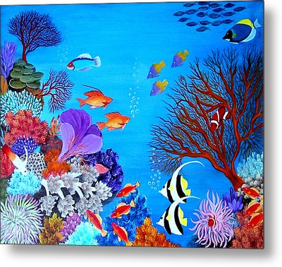 Coral Garden Metal Print by Fram Cama