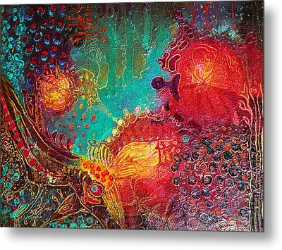 Metal Print featuring the painting Coral World by Lolita Bronzini