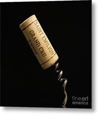 Cork Of Bottle Of Saint-emilion Metal Print by Bernard Jaubert