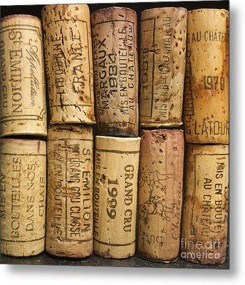 Corks Of Fench Vine Of Bordeaux Metal Print by Bernard Jaubert