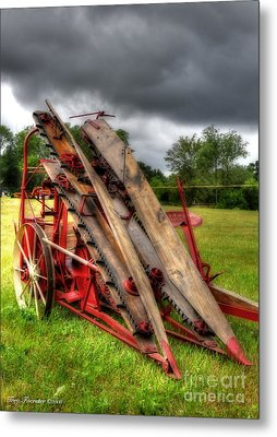 Corn Binder Metal Print