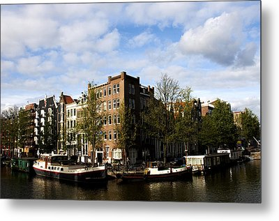 Corner Of Prinsengracht And Brouwersgracht Metal Print by Fabrizio Troiani