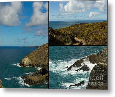 Cornwall North Coast Metal Print by Brian Roscorla