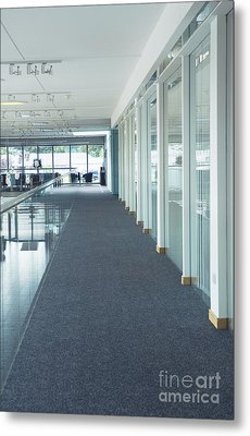 Corridor In A Modern Office Metal Print by Iain Sarjeant