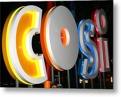 Cosi In Neon Lights Metal Print