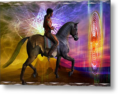 Metal Print featuring the digital art Cosmic Horizon by Shadowlea Is