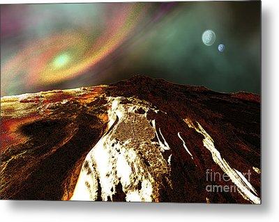Cosmic Landscape Of An Alien Planet Metal Print by Corey Ford