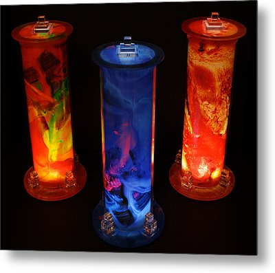 Cosmic Light Tubes Metal Print by Colleen Cannon