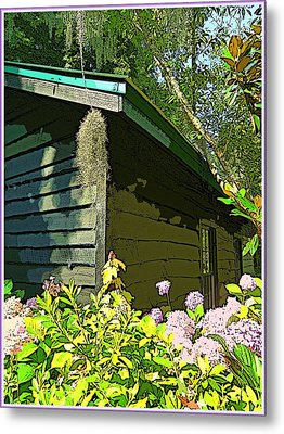 Cottage At Magnolia Plantation Metal Print by Mindy Newman