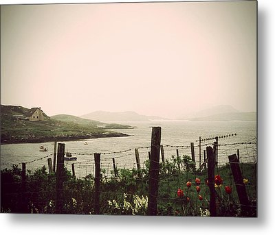Cottage By The Sea Barra Metal Print